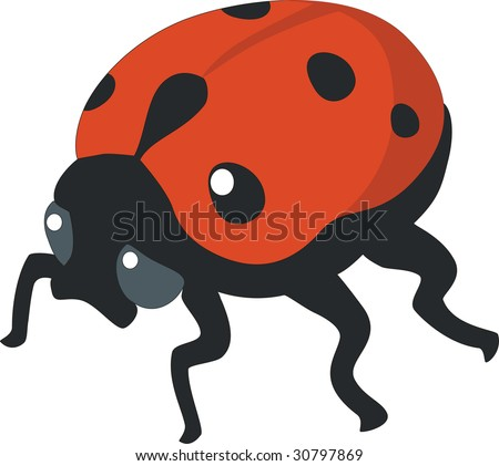 Vector. Ladybird silhouette in  color 01