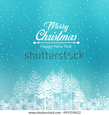 Vector landscape background Christmas, Happy New Year