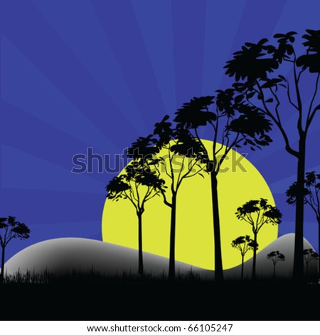 vector landscape wildness - stock vector