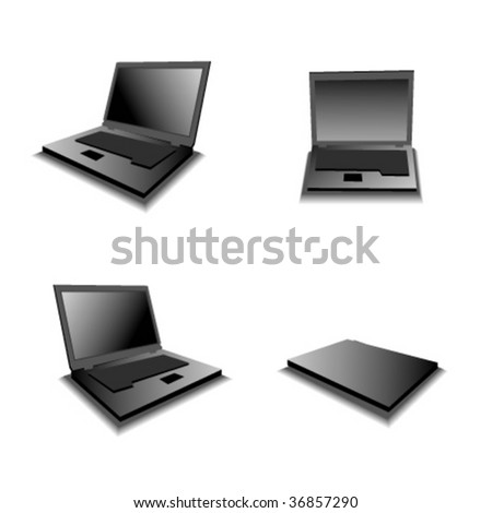 Vector laptop icons