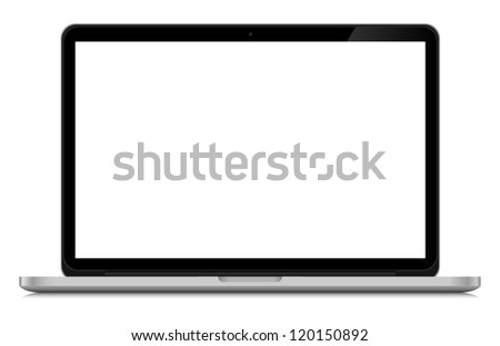 Vector laptop isolated on white background - stock vector