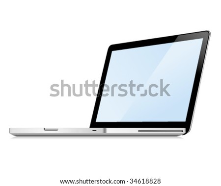 Vector laptop. You can check my portfolio to find more images of this series.