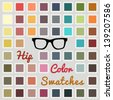 Vector large set of cool color swatches - stock photo