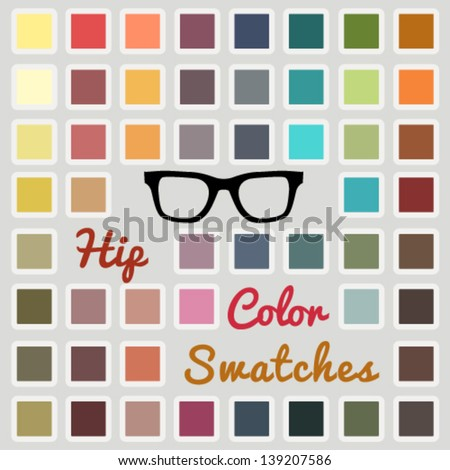 Vector large set of cool color swatches - stock vector