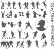 Vector Large set of sport silhouettes - stock vector