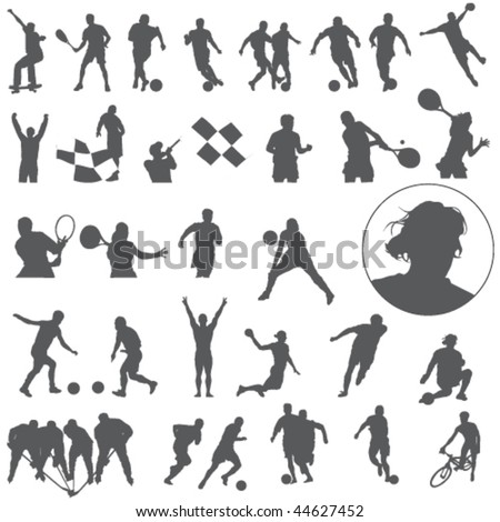 Vector Large set of sport silhouettes