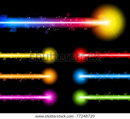 Vector - Laser Neon Colorful Lights - stock vector