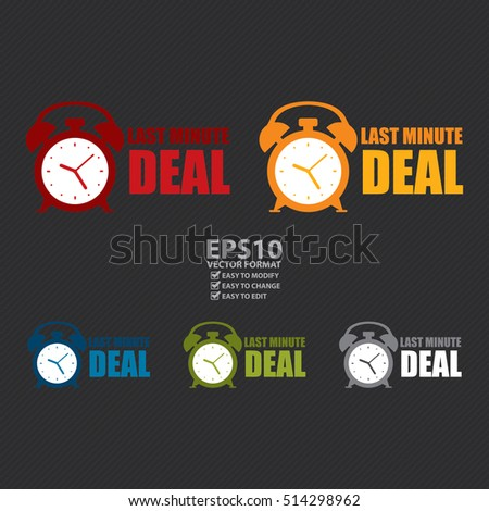 Vector : Last Minute Deal Sign or Icon