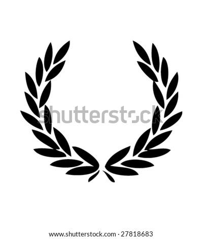 vector laurels 1 - stock vector