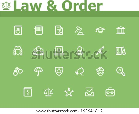 Vector Law and Order icon set