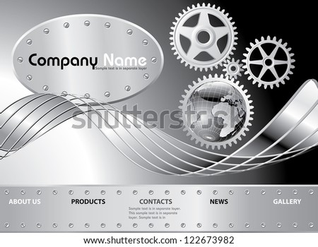 vector layout for abstract web site - stock vector