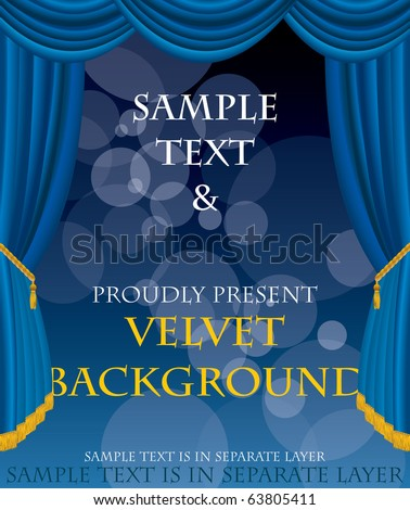 vector layout for some abstract concert, movie, book or something else - stock vector