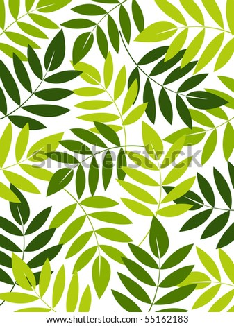 vector leaf background design - stock vector