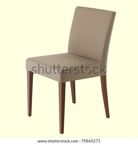 vector leather chair - stock vector