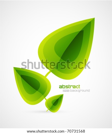 vector leaves - stock vector