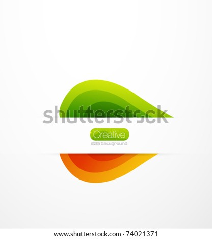 Vector leaves. Abstract summer nature background - stock vector