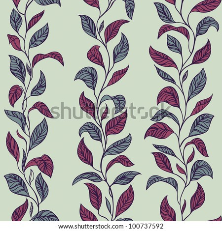Vector Leaves Pattern - stock vector