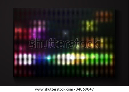 vector led display - stock vector