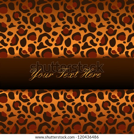 Vector leopard background with place for your text - stock vector