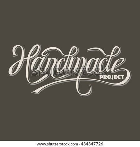 vector lettering, design retro title template for the diy handmade projects, handwriting title