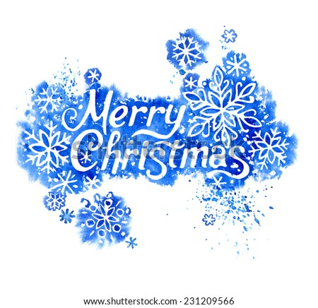 Vector Lettering Merry Christmas wish
