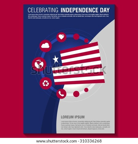 Vector Liberia Independence Day Flyer Template Stock Photo (Photo ...