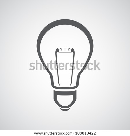 Vector light bulb icon - stock vector
