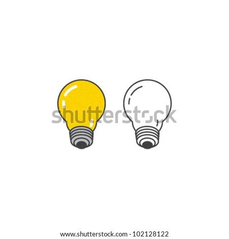 Vector Light Bulb Icon Set - stock vector