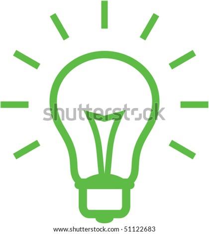 Vector light bulb illustration - stock vector
