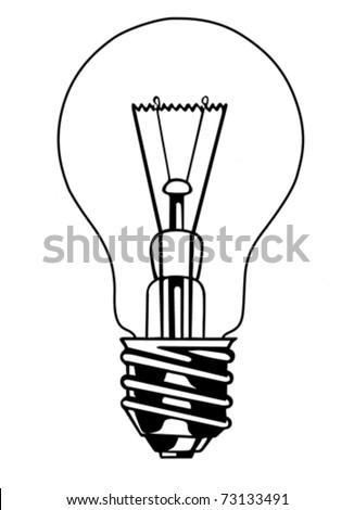vector light bulb on white background - stock vector
