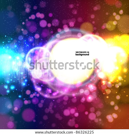 Vector light circles banner. Abstract Background