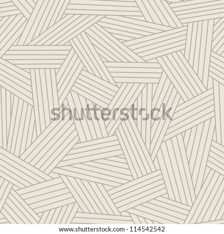 Vector light seamless pattern with interweaving of thin lines. Traditional hatching of architectural hand drawn graphic. Simple abstract ornamental gray illustration with stylized texture of covering - stock vector