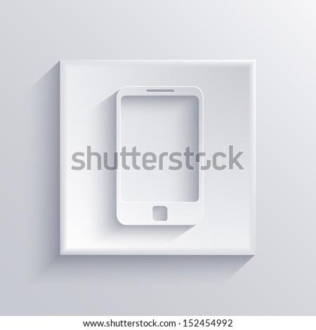 Vector light square icon. Eps 10 - stock vector