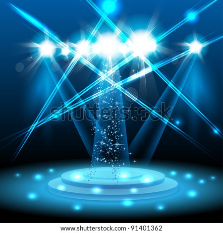 Vector Light Stage - stock vector