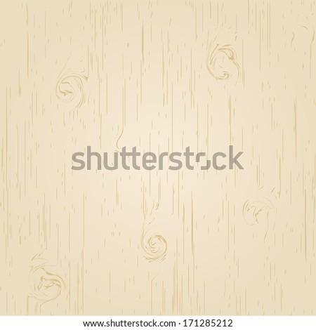Vector light wooden background - stock vector