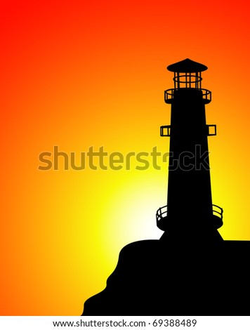 vector lighthouse - stock vector