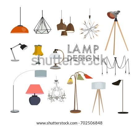 Vector lighting lamp illustration floor lamp vector lighting lamp illustration floor lamp table lamp pendant interior design mozeypictures Image collections