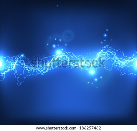 Vector lightning background. Vector eps10 - stock vector