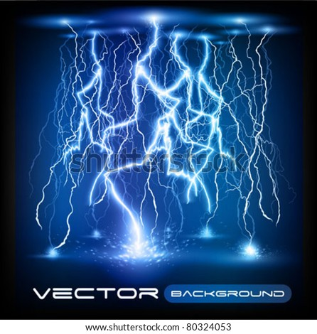 vector lightning flash strike background - stock vector