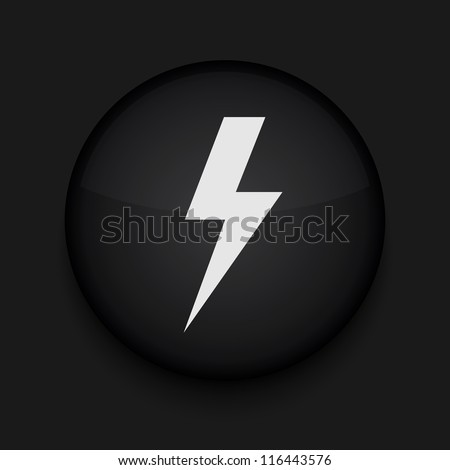 Vector  lightning icon. Eps10. Easy to edit - stock vector