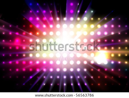 vector lights - stock vector