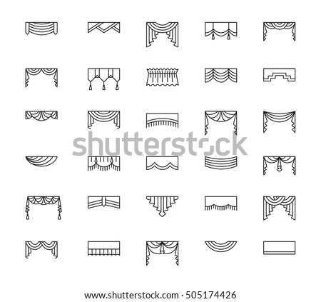 Swag stock photos royalty free images vectors for Professional window treatment patterns