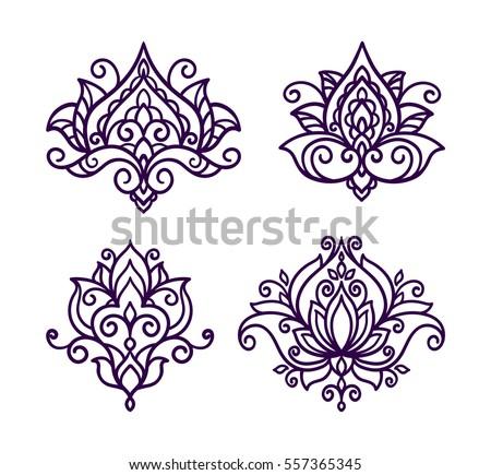 Vector line illustration flower lotus flower stock vector 557365345 vector line illustration flower lotus flower set oriental style mightylinksfo