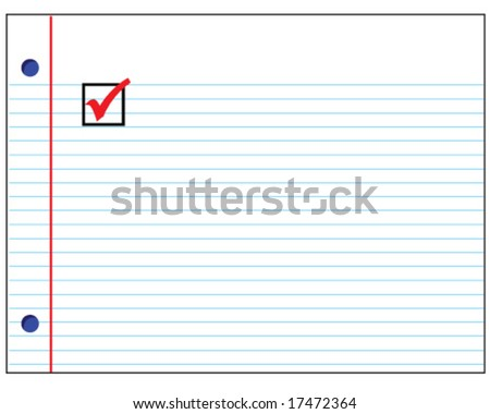 Vector Lined Paper Check Box Stock Vector   Shutterstock