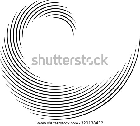 Vector Lines . Curved Lines . Design Element . Black Painted Stroke . Used as Banner . Template , Logo . - stock vector