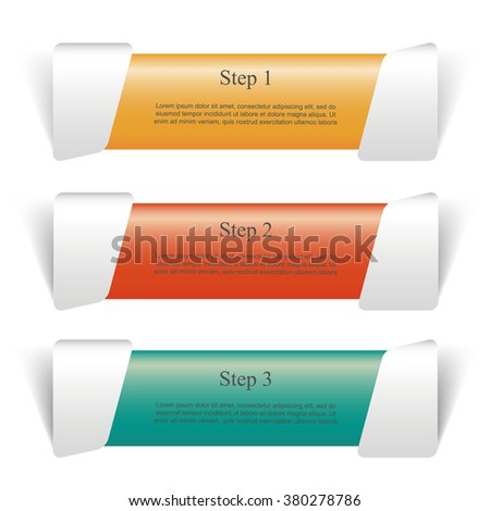 Vector lines infographic. Banner for diagram, graph, presentation and chart. Business concept with 3 options, parts, steps or processes.