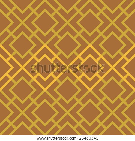 Vector Linked Squares Seamless Seventies Style Inspired Wallpaper - stock vector