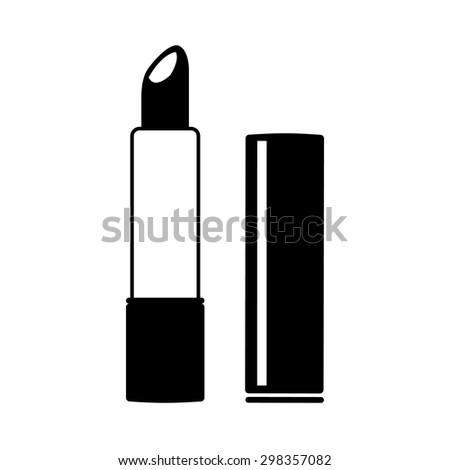 Vector lipstick isolated icon, Illustration EPS10 - stock vector