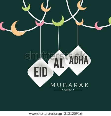 Vector llustration festival of Eid-Al_Adha. - stock vector