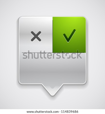 Vector locator with buttons | icons. Modern menu pointer - stock vector
